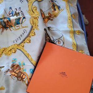 Hermes equestrian / Christmas sleigh themed Scarf